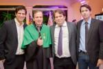 Waldemar com os diretores do Colégio Medicina; Roberto Couto e Roberto Naves, juntamente com seu primo Henri Naves
