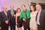 Os acadêmicos Joaquim Caetano de Almeida Netto, Argeu Clóvis de Castro Rocha com sua esposa Inêz Mirtes Naves Rocha,  Waldemar, Mylena Rocha Camarço com seu esposo João Paulo Camarço