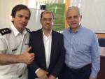 Waldemar Naves do Amaral, Cleber Aparecido Santos e Marcos Vila