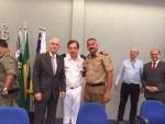 Orlando Afonso Valle do Amaral -Reitor da Universidade Federal de Goiás,Tenente Coronel Waldemar Naves do Amaral e Coronel Juraí Alves de Sousa