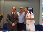 Tenente-Coronel Cleber Aparecido Santos – Diretor -Presidente da Fundação Tiradentes, José Garcia Neto - Diretor do Hospital das Clínicas da UFG e Tenente Coronel Waldemar Naves do Amaral