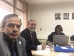 Waldemar Naves do Amaral com Hiran Gallo, tesoureiro do CFM e presidente da Câmara Técnica e de Reprodução Assistida