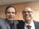 Waldemar com o professor da Unicamp, Ricardo Barini