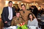 Tenente Coronel Alessandri da Rocha, Coronel Sérgio Ricardo Caetano com sua esposa Joelza da Silva Cunha Caetano