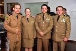 Tenente Coronel Helen, Coronel Heber e Coronel Pereira (Chefe da Casa Militar)